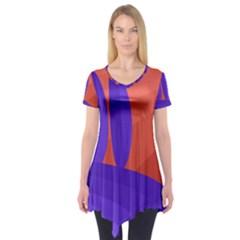 Purple and orange landscape Short Sleeve Tunic