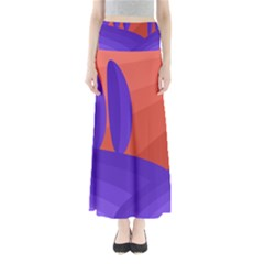 Purple And Orange Landscape Maxi Skirts