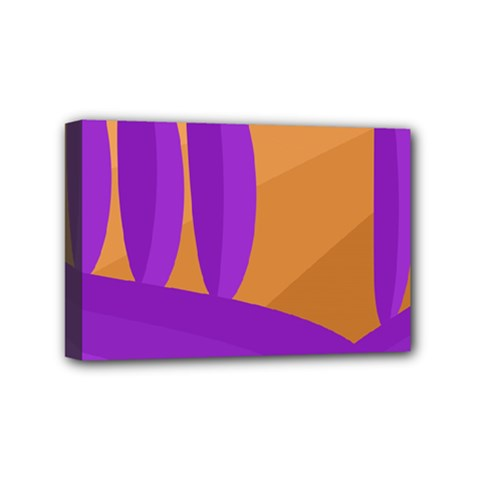 Orange and purple landscape Mini Canvas 6  x 4