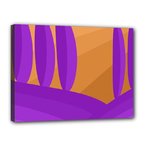 Orange and purple landscape Canvas 16  x 12