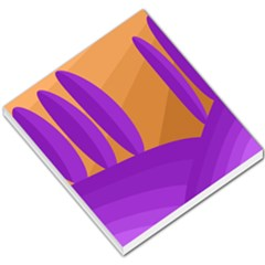 Orange and purple landscape Small Memo Pads