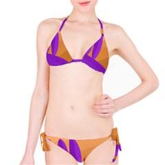 Orange and purple landscape Bikini Set