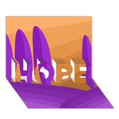 Orange and purple landscape HOPE 3D Greeting Card (7x5)