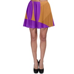 Orange and purple landscape Skater Skirt