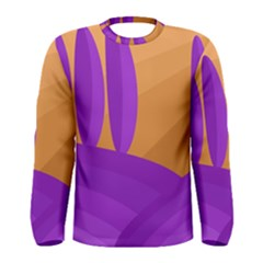 Orange and purple landscape Men s Long Sleeve Tee