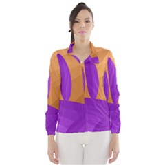 Orange and purple landscape Wind Breaker (Women)