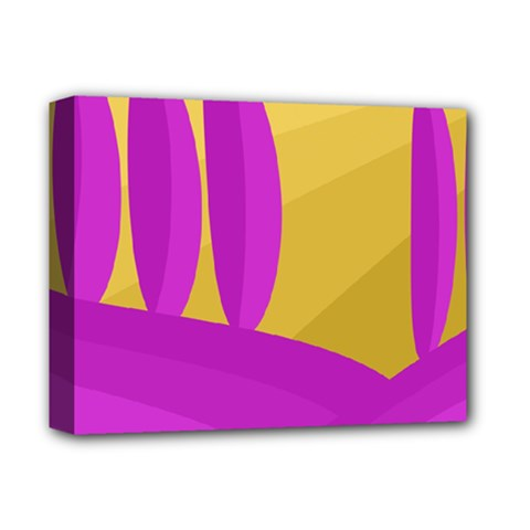 Yellow and magenta landscape Deluxe Canvas 14  x 11