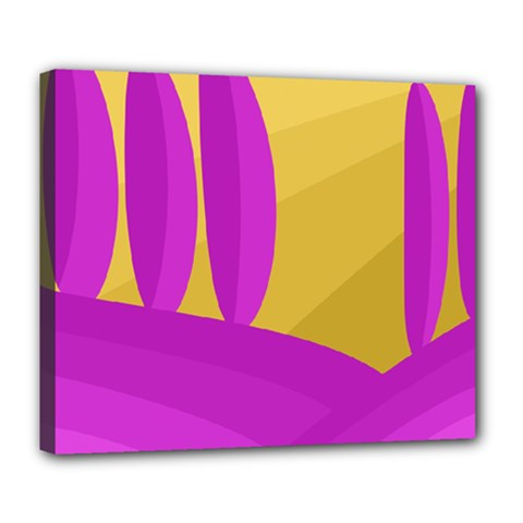 Yellow and magenta landscape Deluxe Canvas 24  x 20