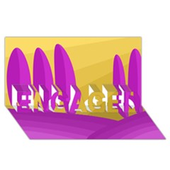 Yellow and magenta landscape ENGAGED 3D Greeting Card (8x4)