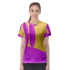 Yellow and magenta landscape Women s Sport Mesh Tee