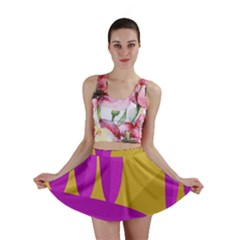 Yellow and magenta landscape Mini Skirt