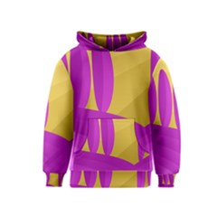 Yellow and magenta landscape Kids  Pullover Hoodie
