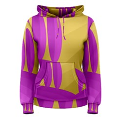 Yellow and magenta landscape Women s Pullover Hoodie