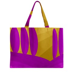 Yellow and magenta landscape Zipper Mini Tote Bag