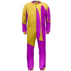 Yellow and magenta landscape OnePiece Jumpsuit (Men)