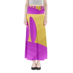 Yellow and magenta landscape Maxi Skirts