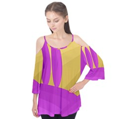 Yellow and magenta landscape Flutter Tees