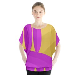 Yellow and magenta landscape Blouse