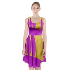 Yellow and magenta landscape Racerback Midi Dress