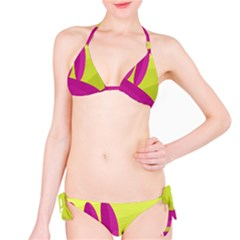 Yellow and pink landscape Bikini Set
