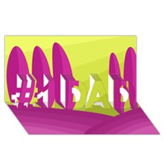 Yellow and pink landscape #1 DAD 3D Greeting Card (8x4)