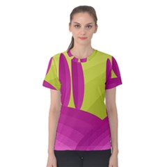 Yellow and pink landscape Women s Cotton Tee