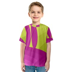 Yellow and pink landscape Kid s Sport Mesh Tee