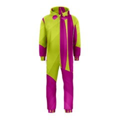 Yellow and pink landscape Hooded Jumpsuit (Kids)