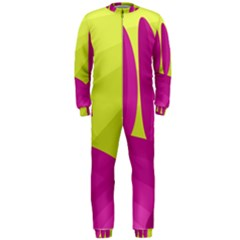 Yellow and pink landscape OnePiece Jumpsuit (Men)