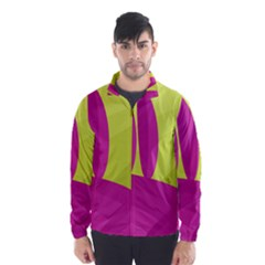 Yellow and pink landscape Wind Breaker (Men)