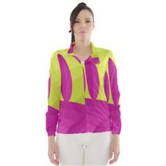 Yellow and pink landscape Wind Breaker (Women)