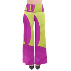 Yellow and pink landscape Pants