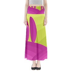 Yellow and pink landscape Maxi Skirts