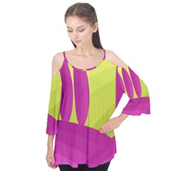 Yellow And Pink Landscape Flutter Tees
