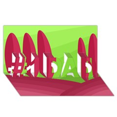 Green and red landscape #1 DAD 3D Greeting Card (8x4)