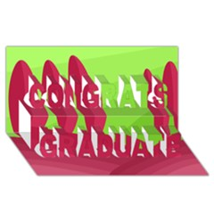 Green and red landscape Congrats Graduate 3D Greeting Card (8x4)