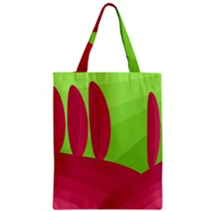 Green and red landscape Zipper Classic Tote Bag