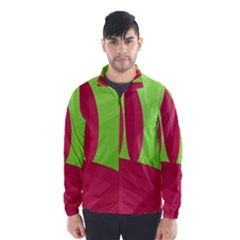 Green and red landscape Wind Breaker (Men)
