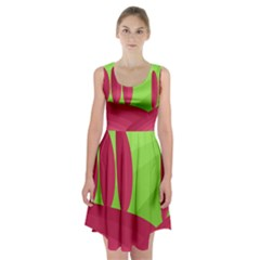 Green and red landscape Racerback Midi Dress