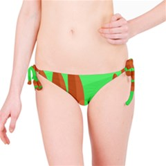 Green and orange landscape Bikini Bottom