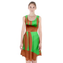 Green and orange landscape Racerback Midi Dress