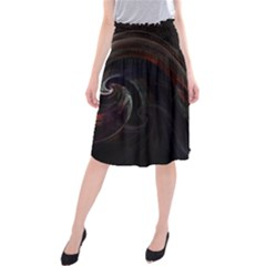 Painted Midi Beach Skirt