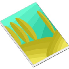 Green and yellow landscape Large Memo Pads