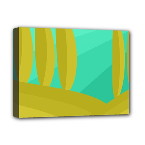 Green and yellow landscape Deluxe Canvas 16  x 12