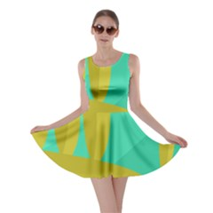 Green and yellow landscape Skater Dress