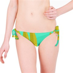 Green and yellow landscape Bikini Bottom