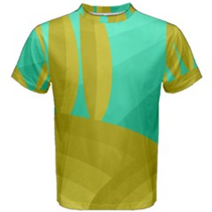 Green and yellow landscape Men s Cotton Tee