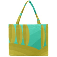 Green and yellow landscape Mini Tote Bag