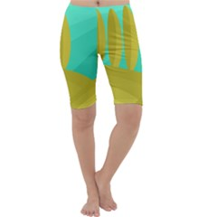 Green and yellow landscape Cropped Leggings