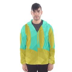 Green and yellow landscape Hooded Wind Breaker (Men)